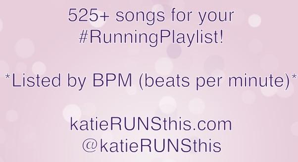 RUNNING MUSIC   katieRUNSthis