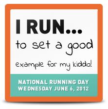 National Running Day Badge