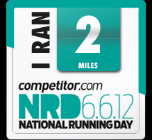 National Running Day Badge