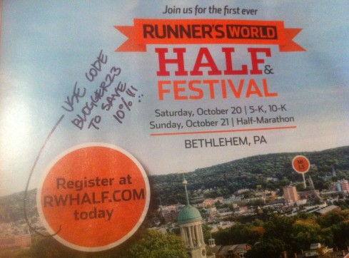 Runner's World Half Marathon Discount Code